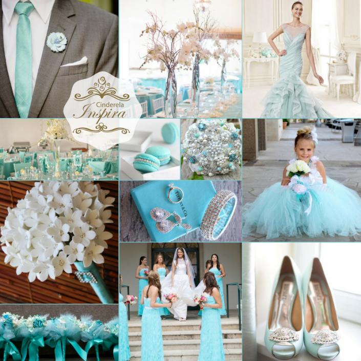 Vestidos de damas cor azul